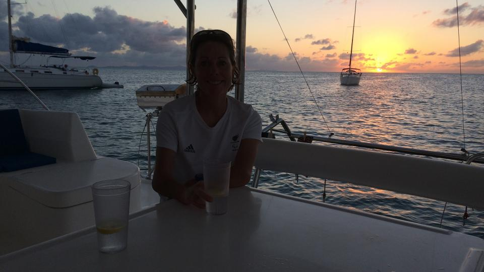 Helena Lucas in the BVI