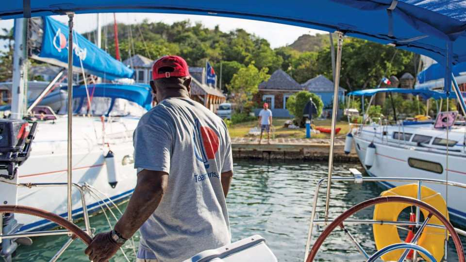 Mooring stern-to in Antigua