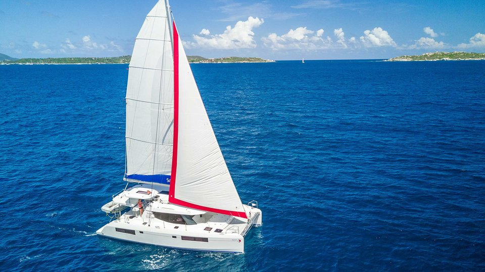 Virgin Gorda - Sunsail 454 sailing