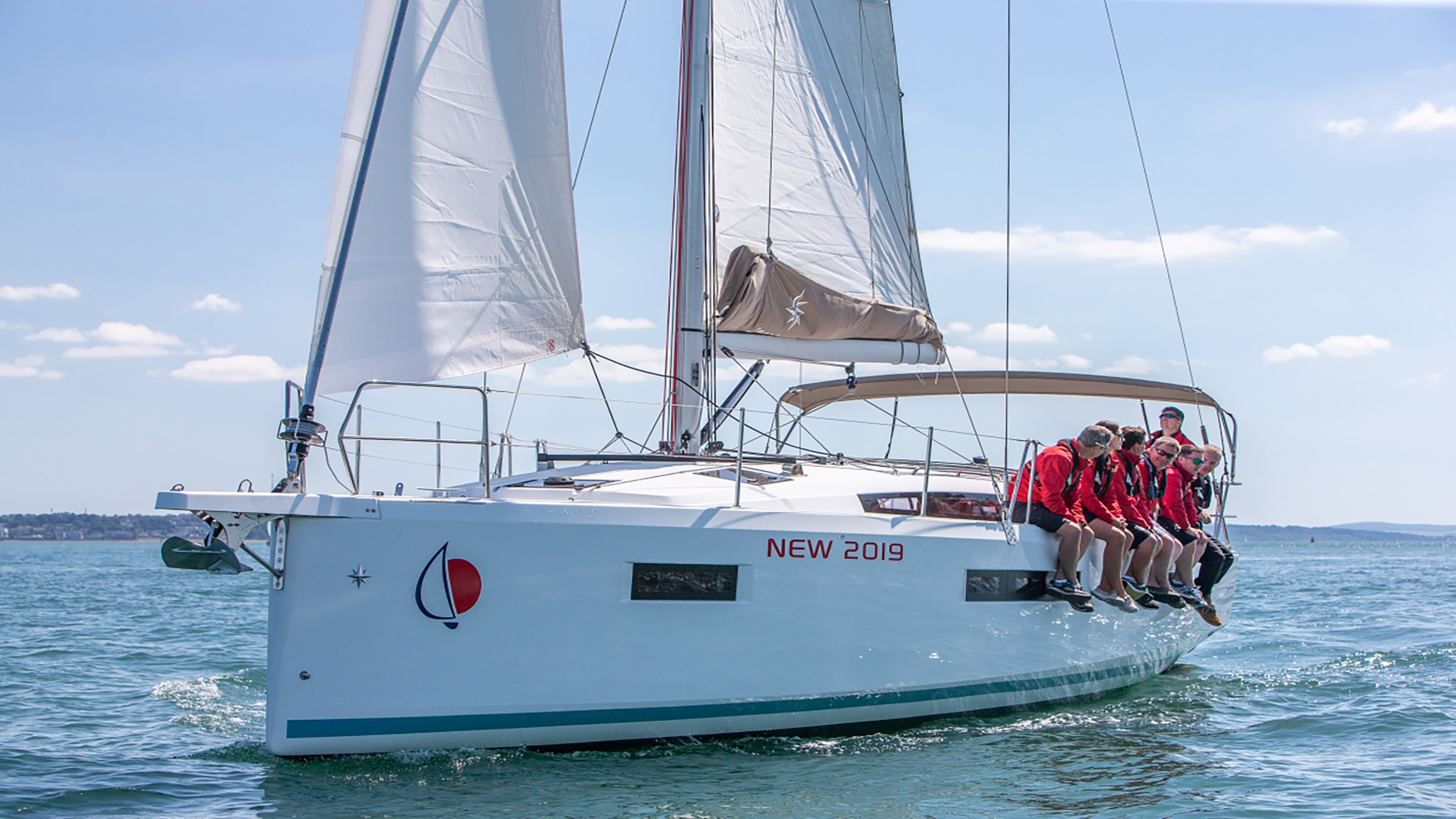 Sailors sitting on Sunsail 41.0